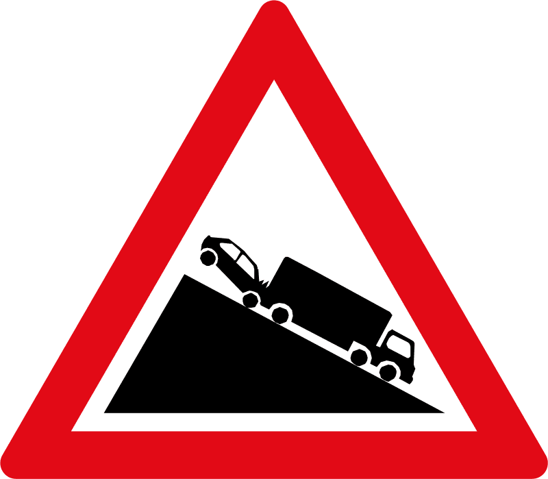 Slow moving heavy vehicles ahead W324