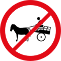 Animal-drawn vehicles prohibited R237