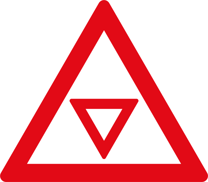 Give Way / Yield control ahead W303