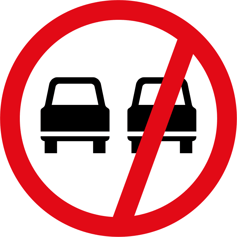 Overtaking prohibited R214