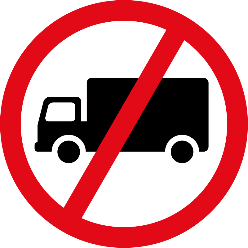 Goods vehicles exceeding 3500kg prohibited R229