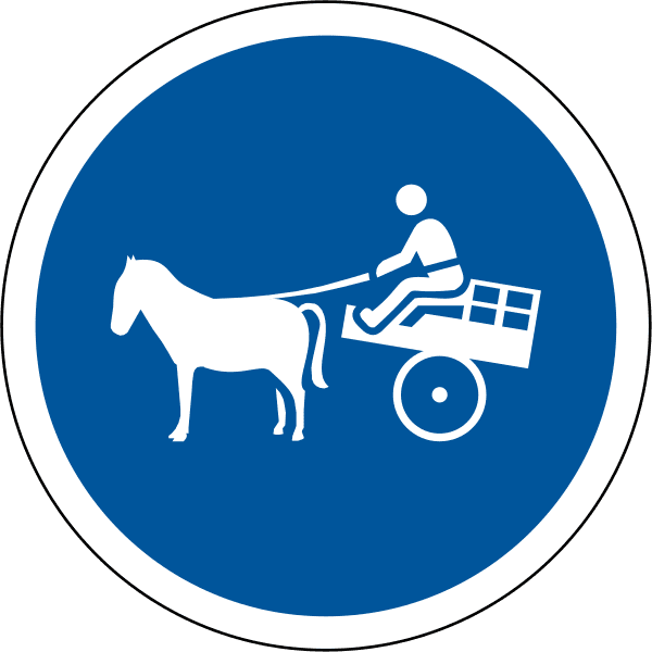 Animal-drawn vehicles only R131