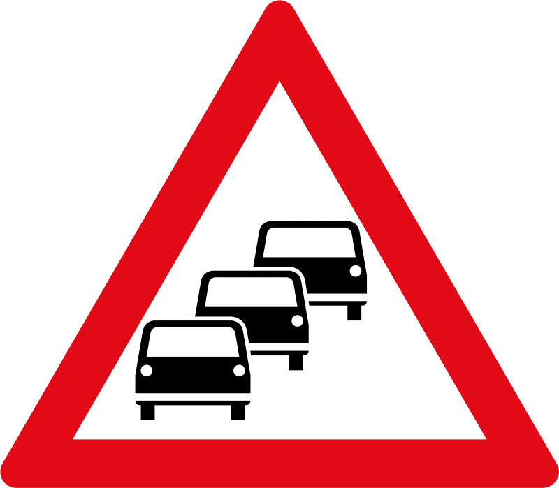 Traffic congestion ahead W355