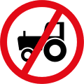 Agricultural vehicles prohibited R236