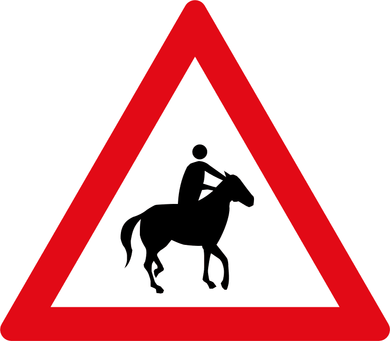 Horse riders ahead W356