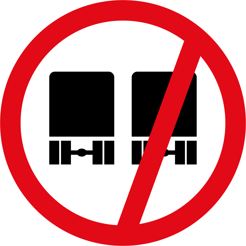 Overtaking prohibited for heavy vehicles R215