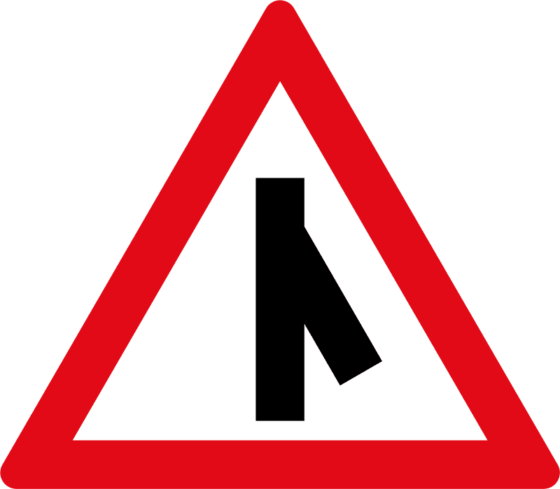 Sharp junction ahead W114