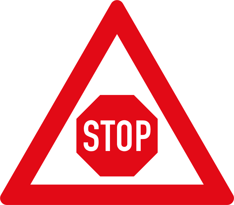 Stop control ahead W302