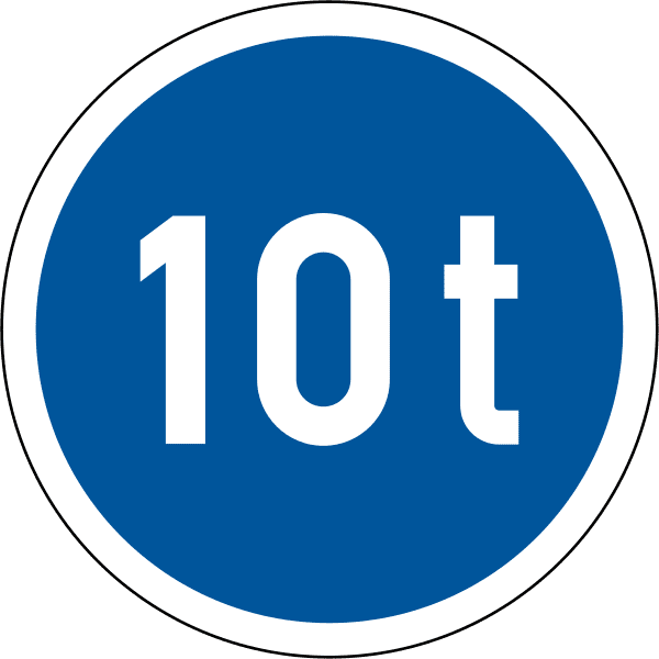 Vehicles exceeding 10 tonnes GVM only R102