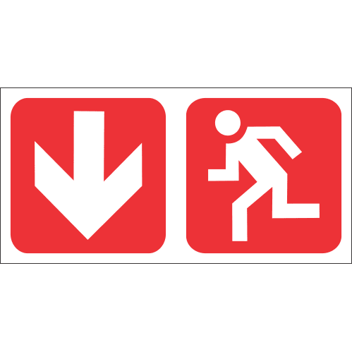 Fire Exit Safety Sign FB73