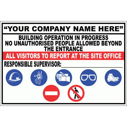 Construction Site Sign - Company 2 CS36