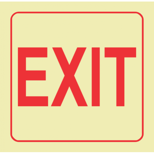 Exit Photoluminescent Sign 2 GP36