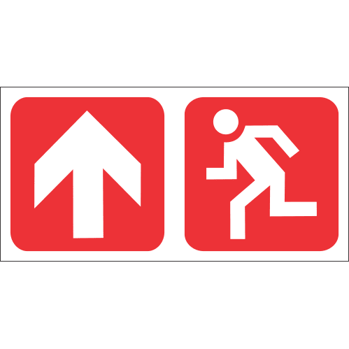Fire Exit Ahead Safety Sign FB74