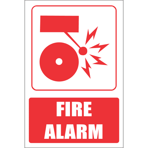 Fire Alarm Explanatory Safety Sign FB21