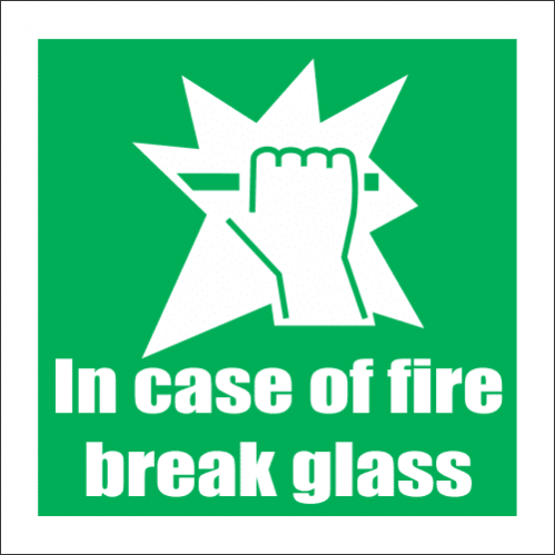 Break Glass Safety Sign FB62