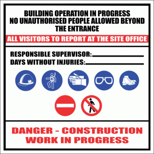 Construction Site Sign 5 CS37