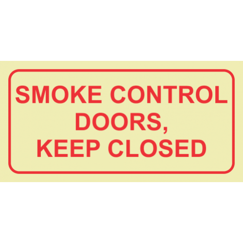 Smoke Control Doors, Keep Close Photoluminescent Sign GP79