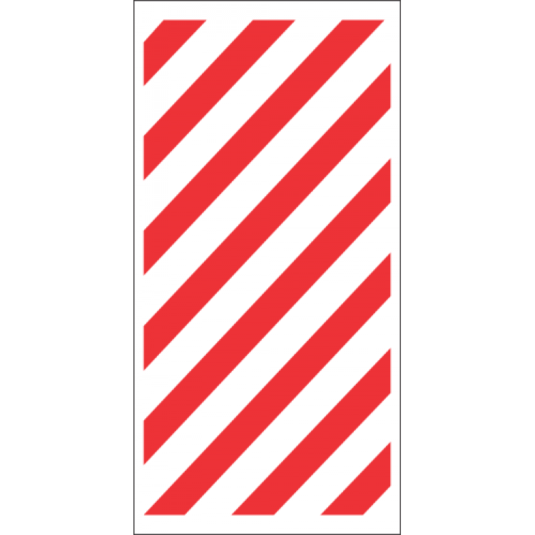 Fire Chevron Safety Sign FB49