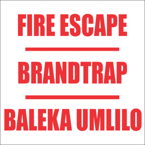 Fire Escape Safety Sign FB34
