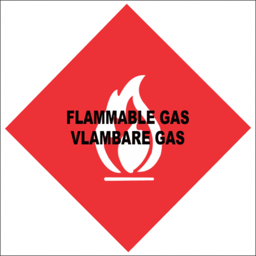 Flammable Gas Safety Sign FB37