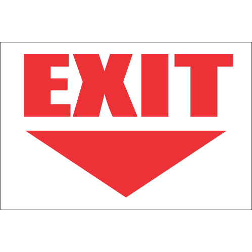FR15 -Exit Ahead Safety Sign FB43