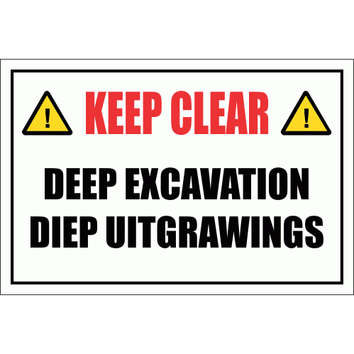 Deep Excavation Sign CS10