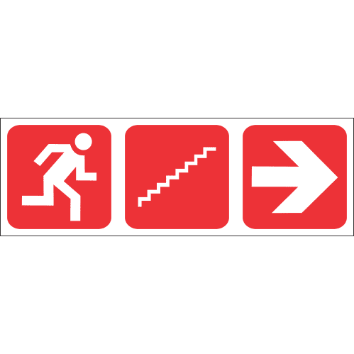 Fire Escape Stairs Right Safety Sign FB75