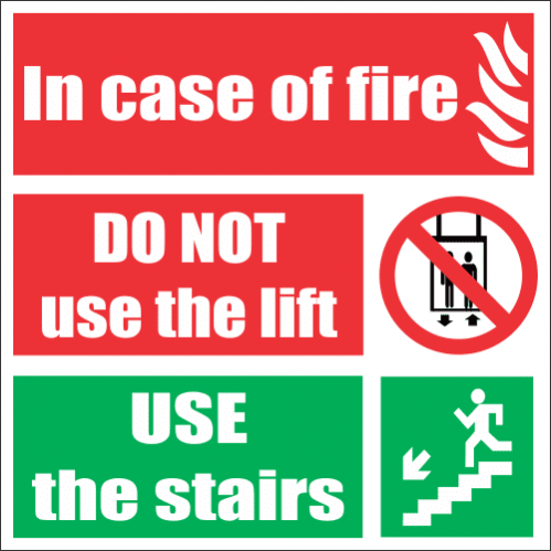 In Case Of Fire Safety Sign FB55