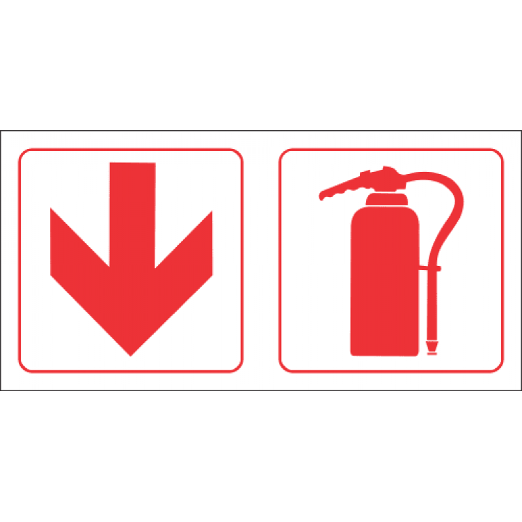 Fire Extinguisher Ahead Safety Sign FB81