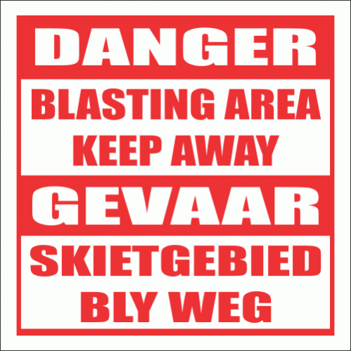 Blasting Keep Away Sign CS3
