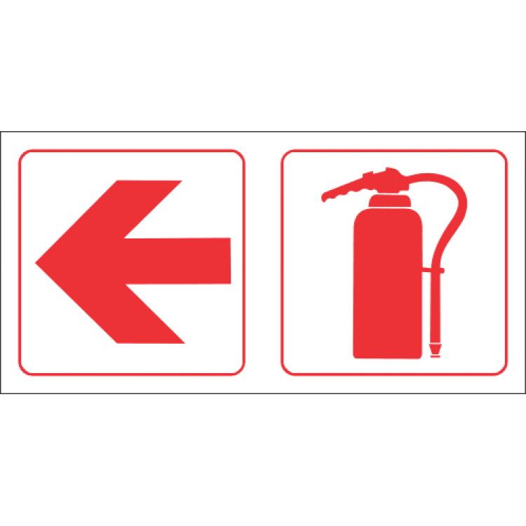 Fire Extinguisher Left Safety Sign FB82
