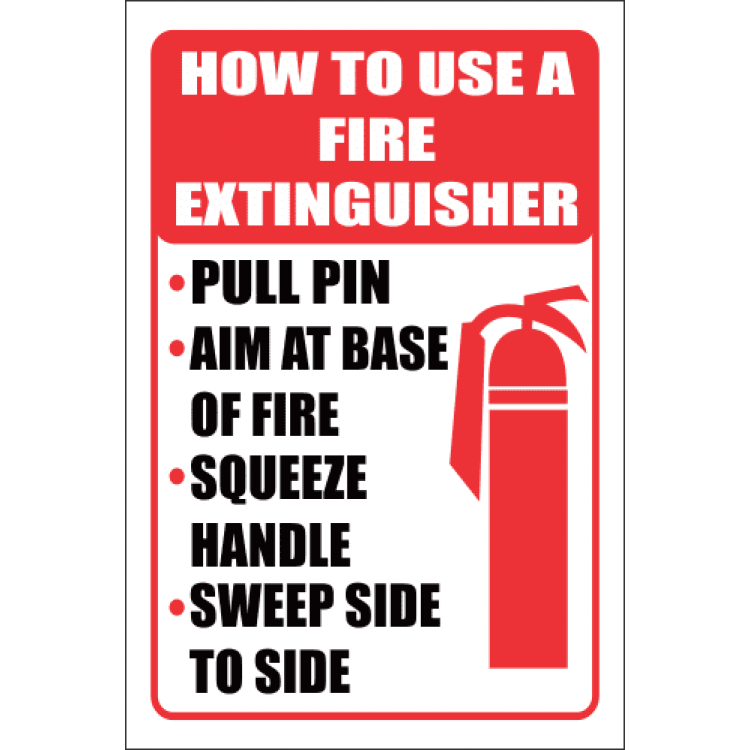 How To Use a Fire Extinguisher Safety Sign FB63