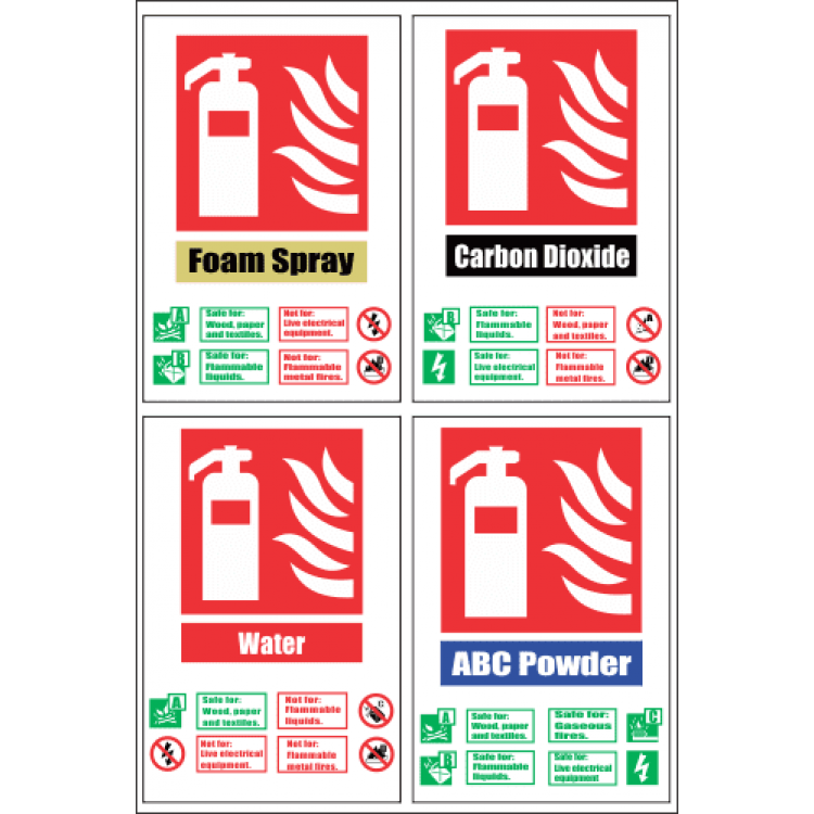 Fire Extinguisher Combo Safety Sign FB69
