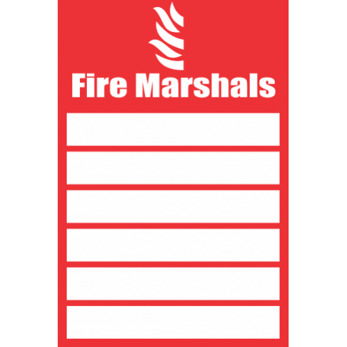 Fire Marshals Safety Sign FB54